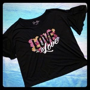 Jessica Simpson XS Love is Love ❤️ top